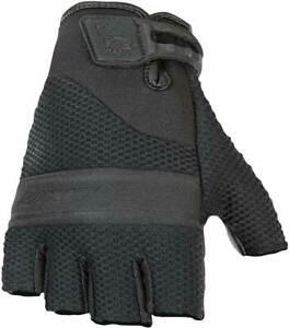 Joe Rocket Vento Fingerless Mesh Leather Harley Riding Mens Summer Gloves