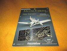 F4U Corsair Metal Earth 3D Laser Cut Metal Model 2014 Fascinations Airplane New