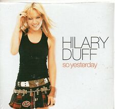 CD CARTONNE 2T  HILARY DUFF  SO YESTERDAY   DE 2003  NEUF SCELLE