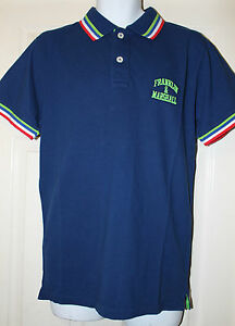 100% Authentic Franklin & Marshall Men's Blue Pique Polo Shirt Slim Fit XL BNWT
