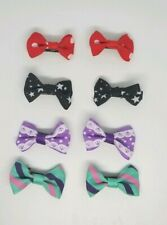 8 pack hair bow clips Mixed colours Hair Clip Baby toddler Girls star black red