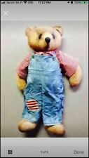 Blue Jean Teddy Bear Large