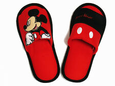 Mickey Mouse Red,Black Slippers US size 6-10 (UK 4-7.5, EU 36-41) #034