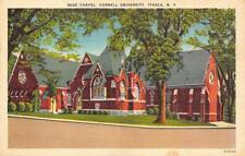 ITHACA, NY New York    CORNELL UNIVERSITY~SAGE CHAPEL    1953 Linen Postcard