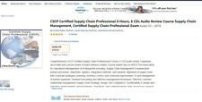 CSCP Certified Supply Chain Professional APICS 6 Hour Review Audio Course CSCP