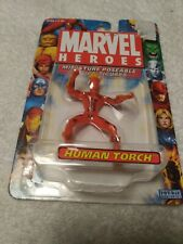 2005 Toy Biz Marvel Heroes Human Torch Miniature Poseable Action Figure
