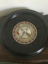 Chad Valley Vintage Black Bakelite Roulette Wheel One Red Ball