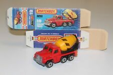 VTG Lesney Matchbox Superfast No.19C Cement Mixer/Rare Black Stripes/ Orig. Box