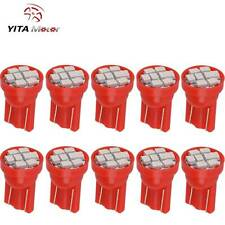 YITAMOTOR Pure Red T10 W5W 168 LED Bulb Interior Instrument Dash Map Light 10PCS