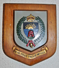 Royal Police Force of Antigua plaque shield crest badge Constabulary