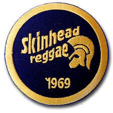 Skinhead Reggae 1969 Patch Ska Iron on Biker Street Mod Music Easy Badge Sew