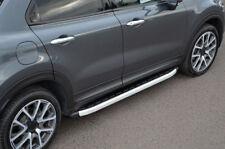Aluminium Side Steps Bars Running Boards To Fit Fiat 500X (2014