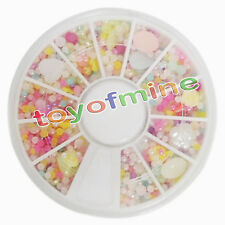 New Rhinestones 12 Colors Wheel Nail Art Decoration Flower Ball Heart Manicure