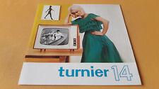 Prospekt Turnier 14, Fernsehempfänger, RFT, 1965, VEB Rafena Werke Radeberg