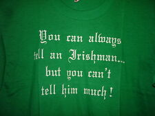 Vintage 80s You Can Always Tell an Irishman 50/50 T Shirt Green XL