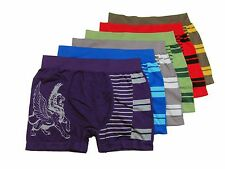 Lot of 6 Mens MICROFIBER BOXER BRIEFS Seamless One Size Fits Most S M L XL 35889