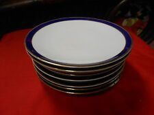 Magnificent MITTERTEICH Bavaria Dinnerware..Deep Cobalt Trim ..6 DINNER Plates