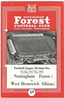 Nottingham Forest v West Bromwich Albion 1962/3