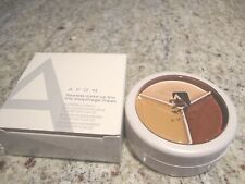 AVON Flawless make-up Trio BROWN WHEELIN Eye, Lip Color & Concealer Lot of (2)