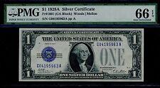 FR1601 $1.00 1928A SERIES S/C WOODS / MELLON -- PMG 66 GEM UNC -- BQ6919