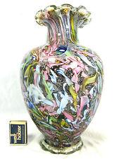 """XL Dino Martens """"Tutti Frutti""""  """"rest of the day"""" Murano glass vase   28,5 cm"""