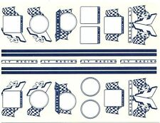 1/32 SLOT CAR STICKER with FLY RACING DECAL for SCX FLY SCALEXTRIC NINCO LOT 5