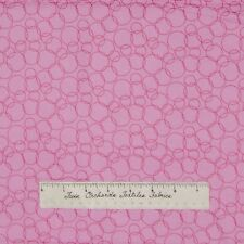 Nursery Fabric Having A Baby Bubblegum Pink Ring Circle Camelot Cotton Quilt Yd