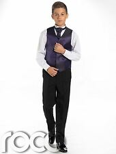 Boys Waistcoat Suit, Page Boy Suits, Boys Wedding Suits, Black Trousers