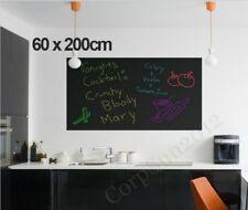 Large 60x200cm Blackboard Removable Wall Sticker Chalkboard Decal + Chalks