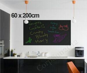 Large 60x200cm Blackboard Removable Wall Sticker Chalkboard Decal + Free Chalks