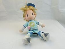 "Applause Precious Moments BOBBY Baseball Player Plush Doll 15"" 1985 Sam Butcher"
