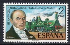 España estampillada sin montar o nunca montada 1974 SG2231 125th aniversario de Barcelona-Motaro del ferrocarril