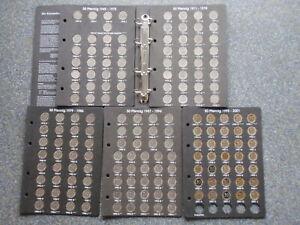BRD 50 Pfennig komplett 1949-2001 inkl. Bank Deutscher Länder 1950 G & 1995 A-J