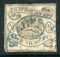 GERMANY STATES BRUNSWICK SCOTT# 5 MICHEL# 5 USED AS SHOWN