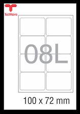 NovaJet Multipurpose Label 08 L-100x72WR for Inkjet /Laser printer A4 500 Sheet