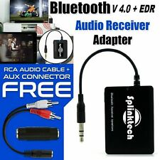 3.5mm Bluetooth Wireless Audio Receiver Stereo Music Car AUX Adapter Speaker -UK