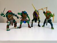 Paramount 4 Playmates TMNT Figures Bundle  2014 Teenage Mutant Ninja Turtles