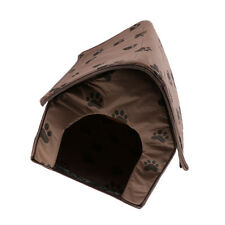 Pet Dog Cat Cave Bed House Footprint Windproof Warm Puppy Soft Mat Kennel