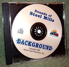 "56016 MODEL RAILROAD SOUND EFFECTS AUDIO CD ""STEEL MILL SOUNDS"""