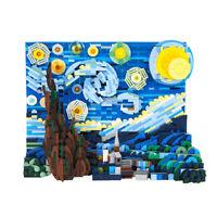 Picture Frame Van Gogh The Starry Night Building Blocks Set Toys 1554 PCS Bricks