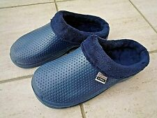NEW Town & Country blue fleece - lined CLOGS--Size 7 UK - Eur.41.