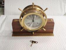 Vintage Seth Thomas Helmsman nautical ships bell clock HELMSMAN-W E537-001 1008