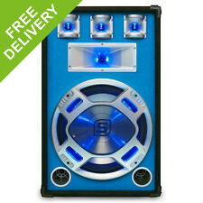 "Skytec 15"" Inch PA Woofer Music Reactive Blue LED Lighting Disco Speaker 800W"