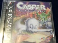 Casper Friends Around the World Sony PlayStation 1 PS1Complete Tested CIB BL