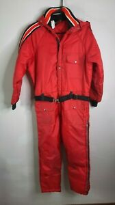 Vintage Insulated Snowsuit Teen Boys Large Adult Small Snowmobile Suit Davco