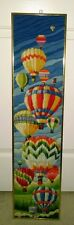 Horizons Cascading Hot Air Balloons Longstitch Completed Framed Wall Hanging