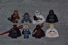 Lot 8 minifig figurine personnage STAR WARS neuf Dark Vador Maul Jedi Trooper.