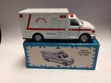 AMBULANCE RED & WHITE PENCIL SHARPENER NEW