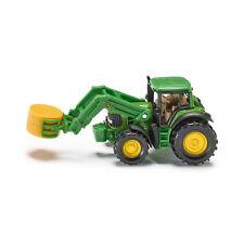 Siku 1379 John Deere Tractor con Pinzas Verde (Blister) ¡Nuevo! °
