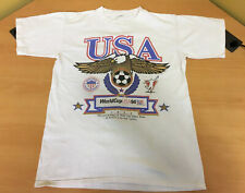 Vintage 1994 World Cup USA America Small White T-Shirt 90's Eagle 1994 Authentic